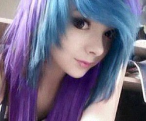 emo, hair, and scene image