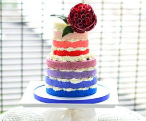 blue, cake, and flower image
