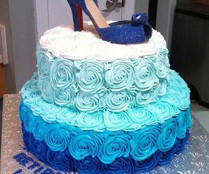 blue, cake, and shoe image