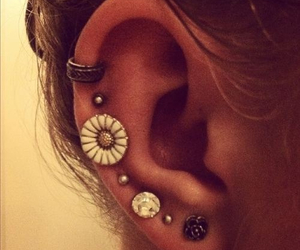 cool, flower, and Piercings image