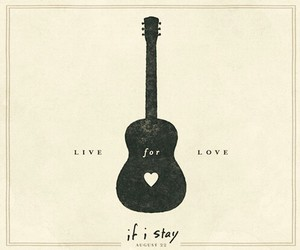 if i stay, guitar, and love image