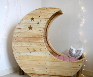 moon, bed, and light image