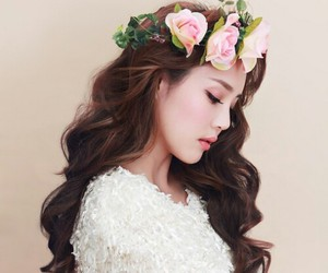pony, flowers, and makeup image