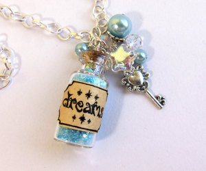 beads, bottle, and charm image