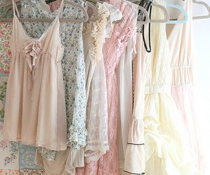 adorable, beige, and dress image