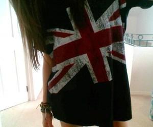 girl, england, and t-shirt image