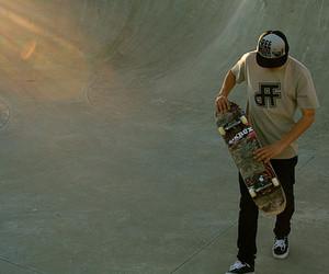boy, skate, and cap image