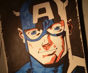 Avengers, captain america, and draw image