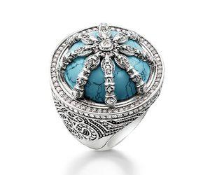 ring, turquoise, and thomas sabo image
