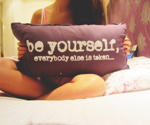 yourself, be yourself, and quote image