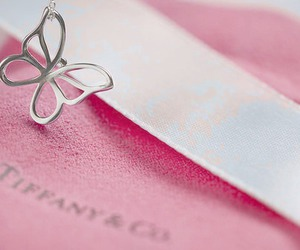 butterfly, tiffany, and pink image