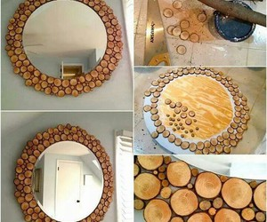 diy, mirror, and wood image