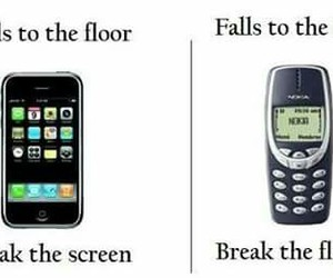 funny, iphone, and nokia image