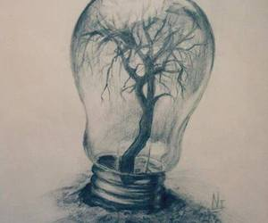 drawing, tree, and art image