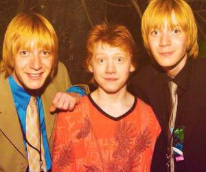 Fred, harry potter, and ron image