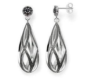 earring, silver, and thomas sabo image