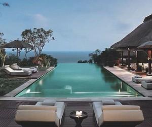 pool, luxury, and house image