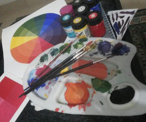 arts, pallet, and colours image