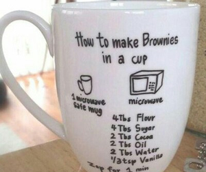 cup, brownies, and diy image