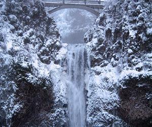 beautiful, snow, and waterfall image