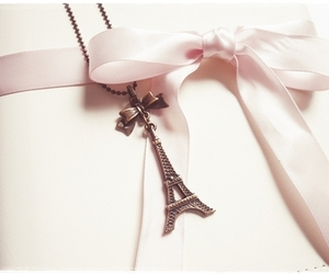 bow, pink, and eiffel tower image
