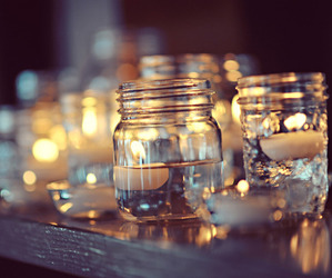 candle, jar, and light image