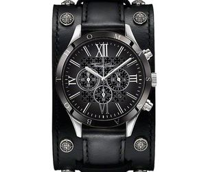 accessories, watch, and leather image