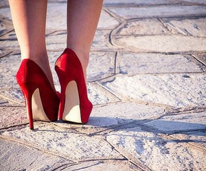 red, shoes, and so sexy image
