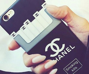 chanel, iphone, and cigarettes image