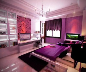 bedroom, colorful, and dreaming image