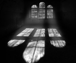 black and white, light, and white image