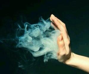 smoke and hand image