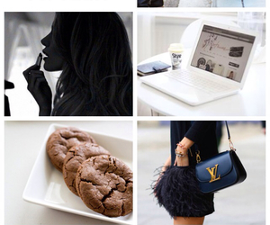 black dress, colors, and food image