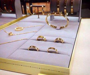 gold, cartier, and luxury image