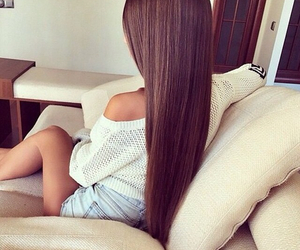 beauty, brown hair, and love image