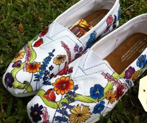 colors, shoes, and flowers image