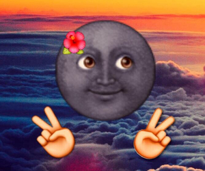 emoji, moon, and peace image
