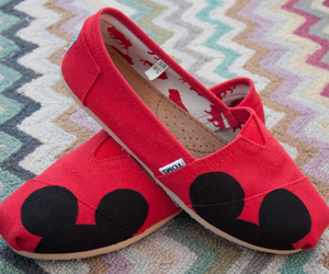 red, shoes, and toms image