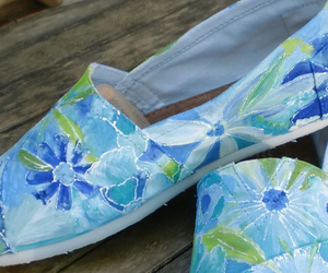 blue, colors, and shoes image