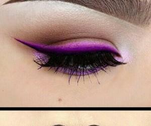 makeup, purple, and lips image