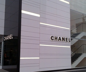 chanel and black and white image