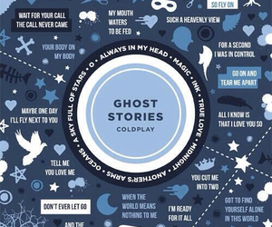 coldplay, ghost stories, and music image