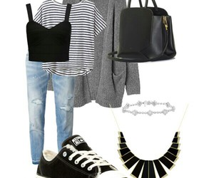 grey, grunge, and outfit image