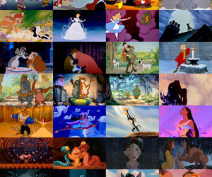 101 dalmatians, beauty and the beast, and disney image