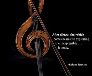 music, silence, and violin image