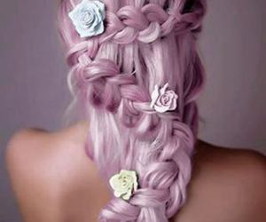 braid, flower, and girly image