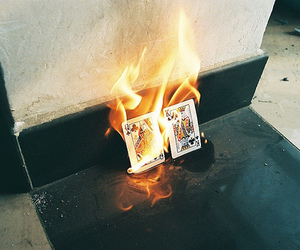 fire and cards image