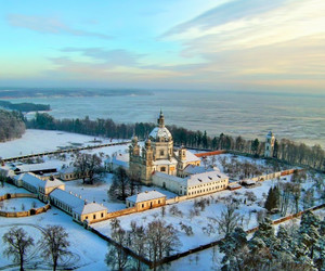 Lithuania, snow, and monestry image