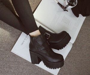 afternoon, black boots, and book image