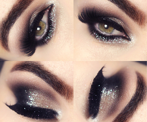 beauty, nails, and olhos image